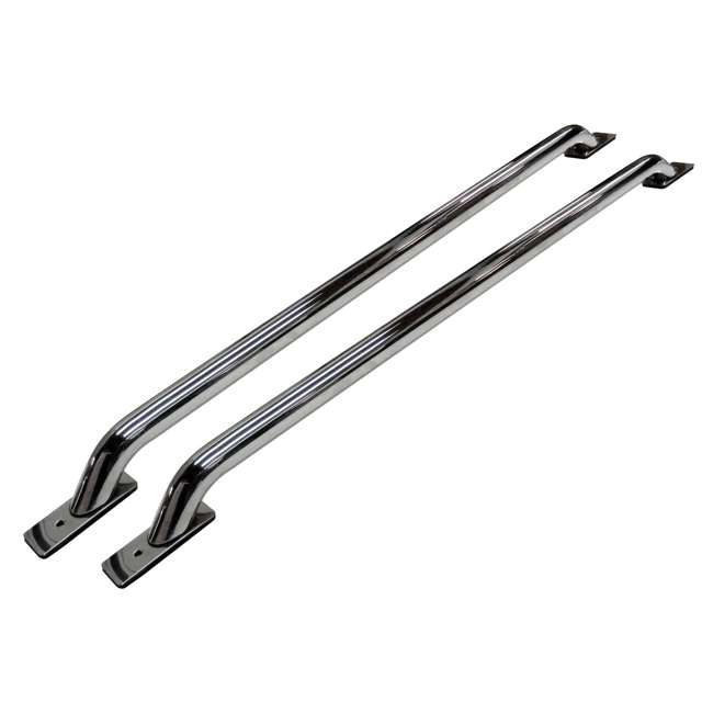 8127C Go Rhino 8127C 62.5 Inch Steel Stake Pocket Mount Truck Bed Bar Rails, Chrome