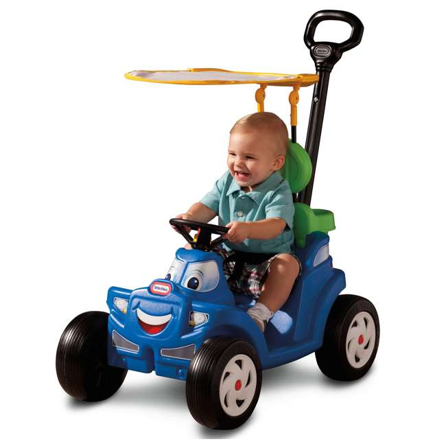 622069MP Little Tikes Deluxe 2 in 1 Cozy Roadster Toddler Kids Push Car Ride On Toy, Blue 2