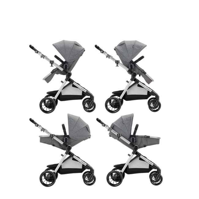 13812254 Evenflo Pivot Xpand Full Size Modular Convertible Baby Stroller, Percheron Gray 1