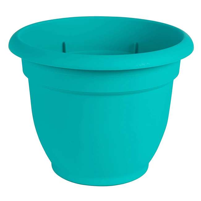 4 x AP1627 Bloem Ariana 16 Inch Indoor & Outdoor Self Watering Planter Pot, Blue (4 Pack) 1