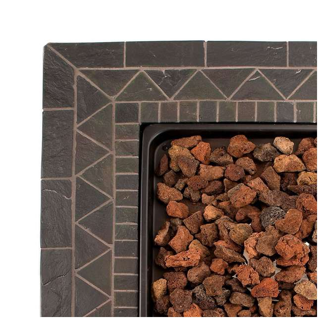 GAD1418M Endless Summer 30 inch Outdoor Gas Lava Rock Patio Fire Pit, Brown (2 Pack) 5