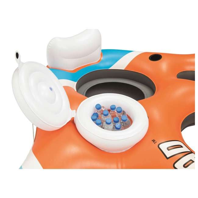 43115E-BW-U-A Bestway 101-Inch Rapid Rider 4-Person Floating Raft w/ Coolers (Open Box)(2 Pack) 5