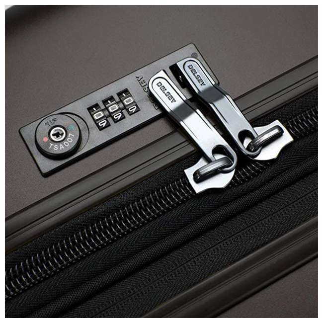 00207180000 DELSEY Paris Titanium Expandable CarryOn Spinner Rolling Luggage Suitcase, Black 3