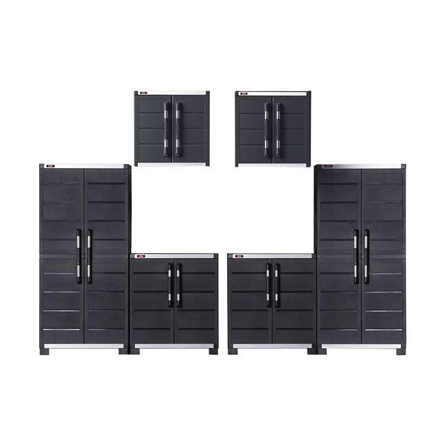 Keter Xl Pro 6 Piece Garage Storage Cabinet System Set