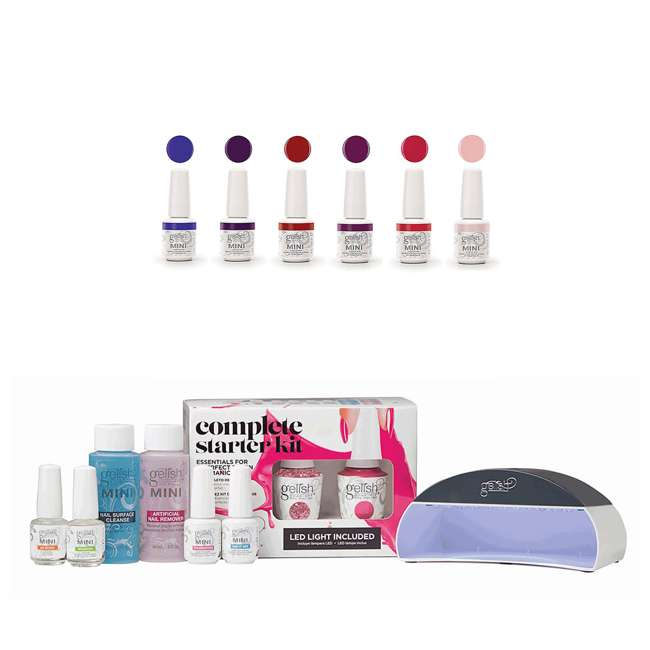1121764-US + 1900116-6PPACK2 Gelish Complete Gel Nail Polish Kit & Fearless and Fun Kung Fu Flair
