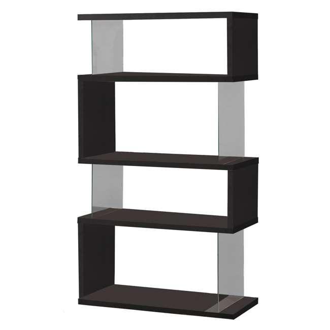 CH-800340-U-B Coaster Home Furniture Asymmetrical Snaking Living Room Bookshelf, Black (Used)