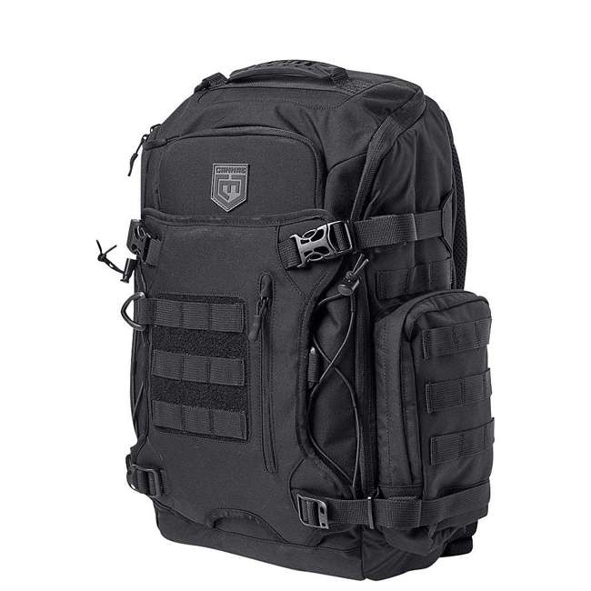 CPG-BP-LEGELT-M-B Cannae Pro Gear Nylon Medium 21L Elite Day Pack Backpack, Black