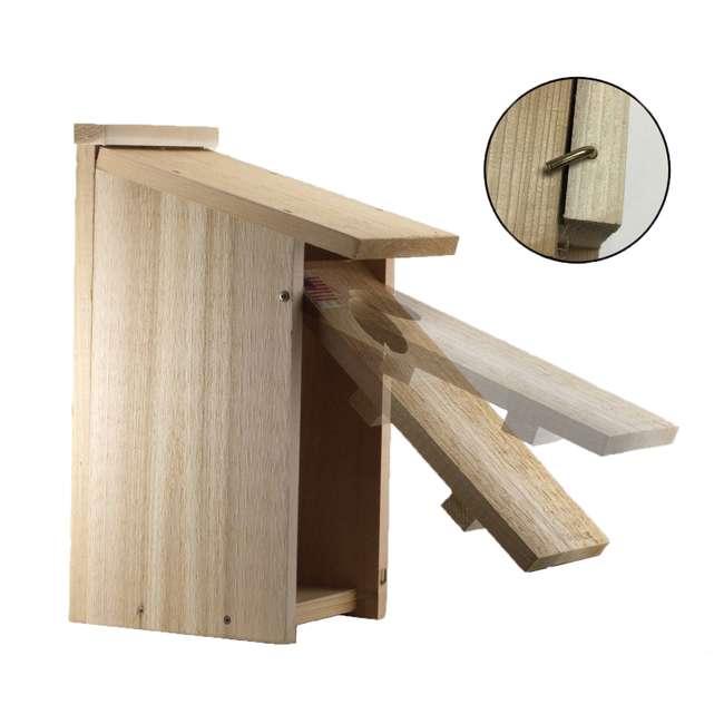 WL-24338 Woodlink Wooden Screech Owl Kestrel Bird House Nesting Box with Wood Shavings 3