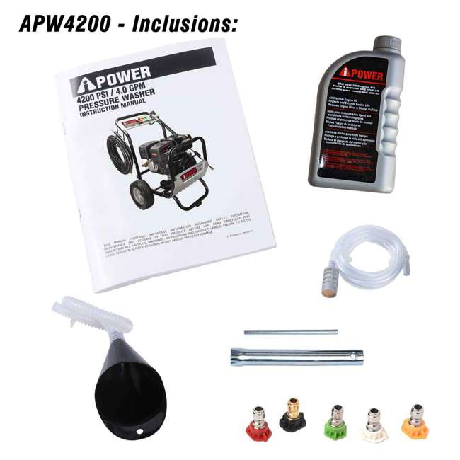 APW4200 A-iPower APW4200 4,200 PSI at 4.0 GPM Pump Pressure Washer 3