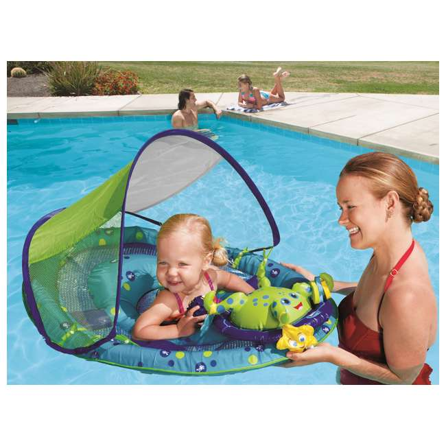6 x 11601 SwimWays Baby Spring Float Activity Center with Sun Canopy | 11601 (6 Pack) 5