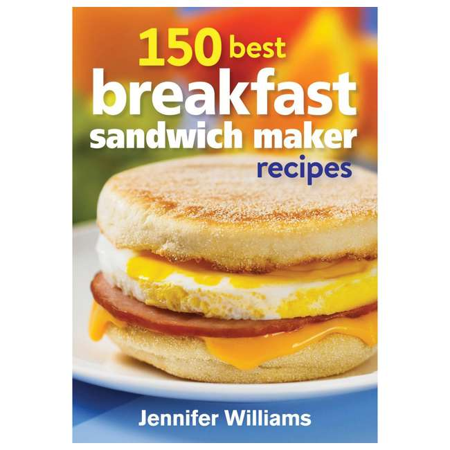 49976 + 25475 + BKFSTMKR100 Hamilton Coffee Maker w/ Press Breakfast Sandwich & Recipe Book  5