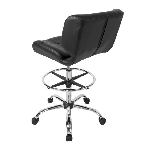 STDN-10659-U-A Studio Designs Crest Low-Back Height Adjustable Drafting Chair, Black (Open Box) 2