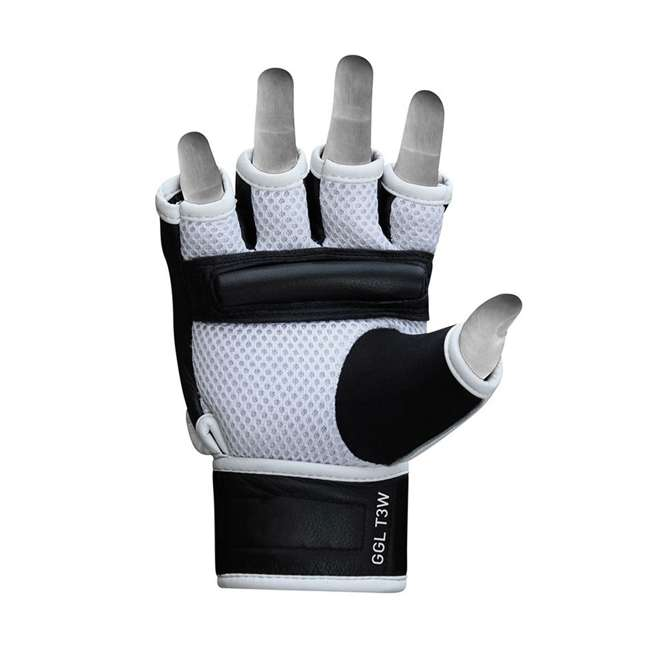 GGL-T3W-L RDX T3 MMA Gel Padded Combat Grappling Gloves, Large 4