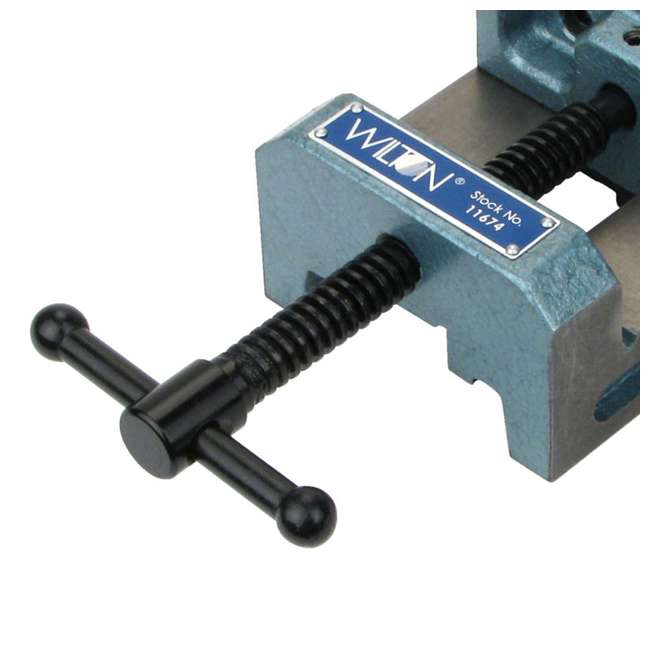 JPW-11674-U-A Wilton 4 In V Groove Jaw Steel Industrial Workbench Drill Press Vise (Open Box) 4