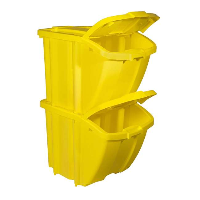 BH18YEL2-U-A Suncast Recycle Bin Kit (Open Box) 1