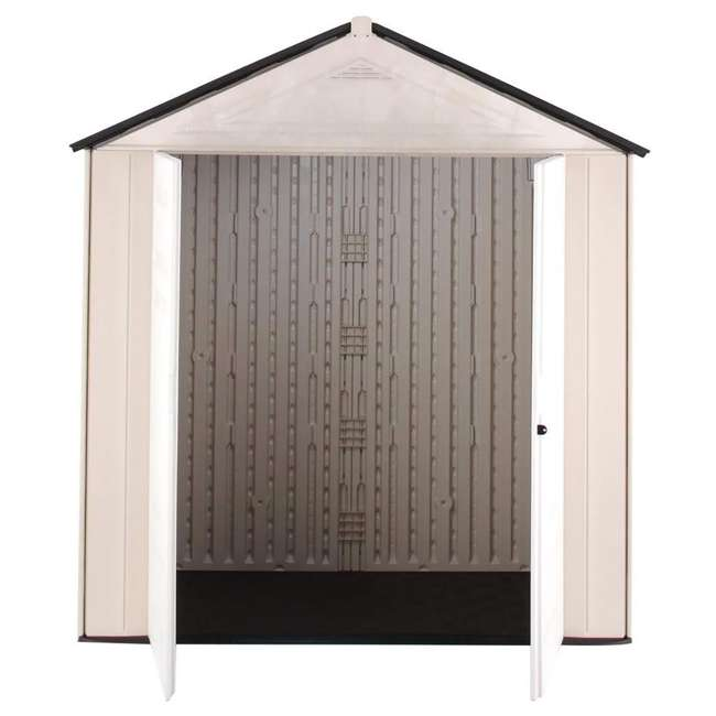 1862705 Rubbermaid 7 x 3-Foot Double Wall Plastic Outdoor Storage Shed, Maple/Sandstone 1