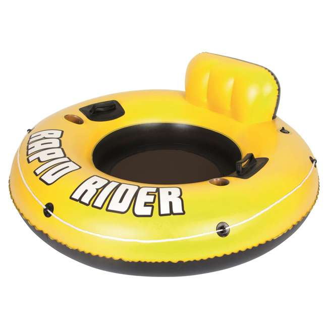 "4 x 43116E Bestway Rapid Rider 53"" Inflatable Raft w/ Handles/Cup Holders (Used) (4 Pack)"