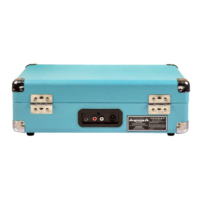 CR8005D-TU Crosley Cruiser Deluxe Portable Bluetooth Turntable, Turquoise 3
