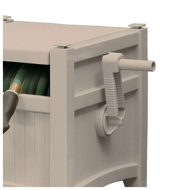 PHH100D Suncast 100-Foot Hideaway Hose Reel, Taupe (Open Box) 1