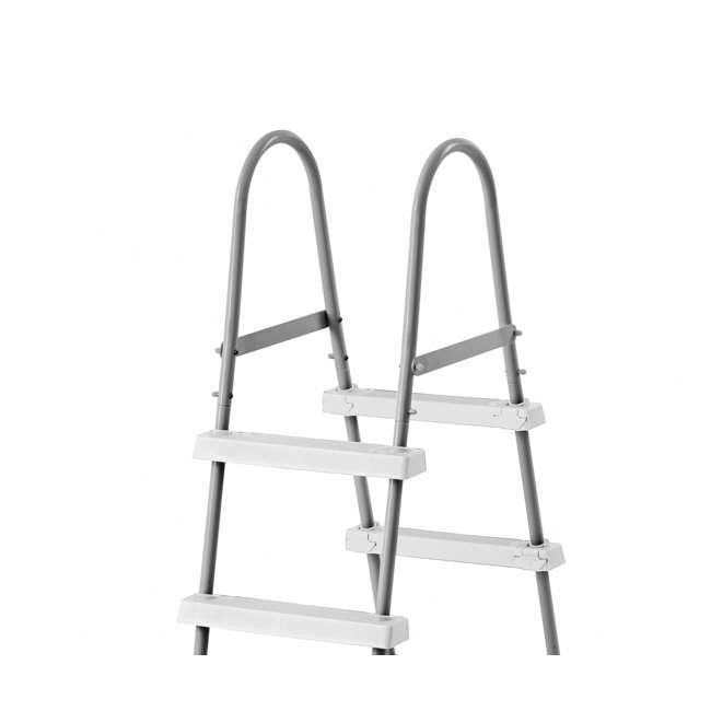 28065E + 87956 Intex Above Ground Steel Frame Swimming Pool Ladder + Pool Ladder Step Pad 4