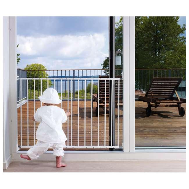 BBD-57314-5400 BabyDan MultiDan Wall Mount 24.6-42 Inch Doorway Safety Baby Gate, White Metal 2