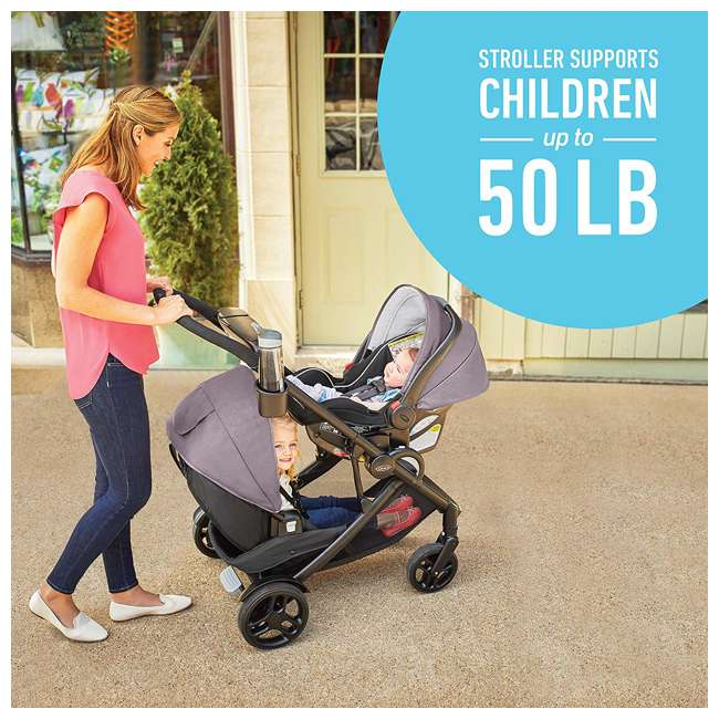 2080526 Graco Modes2Grow Baby Stroller & SnugRide Infant Car Seat Travel System, Kinley 7