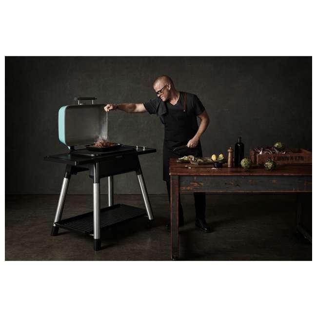 HBG2GUS Everdure HBG2GUS 42.65 Inch 2 Burner Force Freestanding Propane Grill, Graphite  9