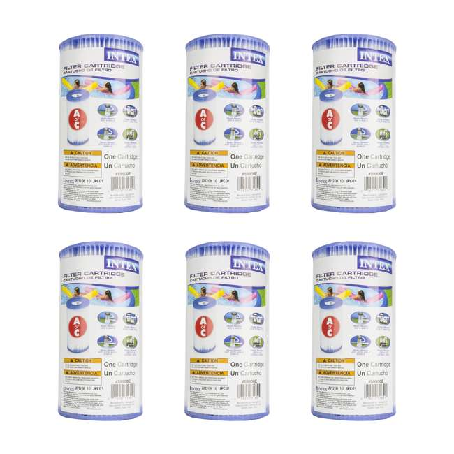 59900E Intex Pool Easy-Set Type A Replacement Filter Cartridge (6 Pack)