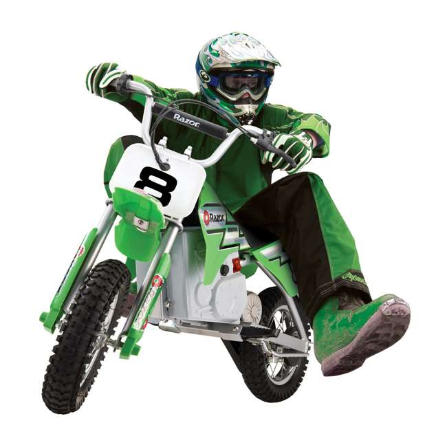 15128030 Razor MX400 Dirt Rocket Electric Motorcycle, Green 1