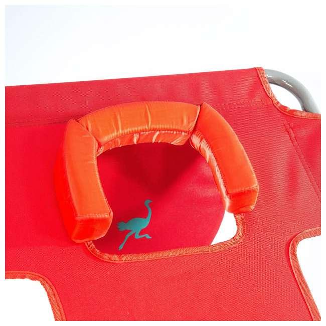 4 x CHS-1002R Ostrich Chaise Lounge Folding Portable Sunbathing Poolside Beach Chair (4 Pack) 3