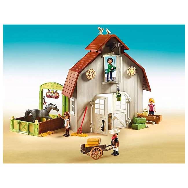 70118 Playmobil 70118 Barn with DreamWorks Lucky, Pru & Abigail Spirit Riding Play Set 2