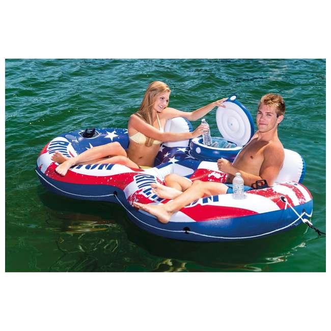 3 x 56855VM-U-A Intex River Run II American Flag Inflatable 2-Person Tube |  (Open Box) (3 Pack) 1