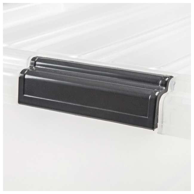 5 x 585380 IRIS USA 585380 68 Qt. Buckle Down Modular Storage Box Container, Clear (5 Pack) 1