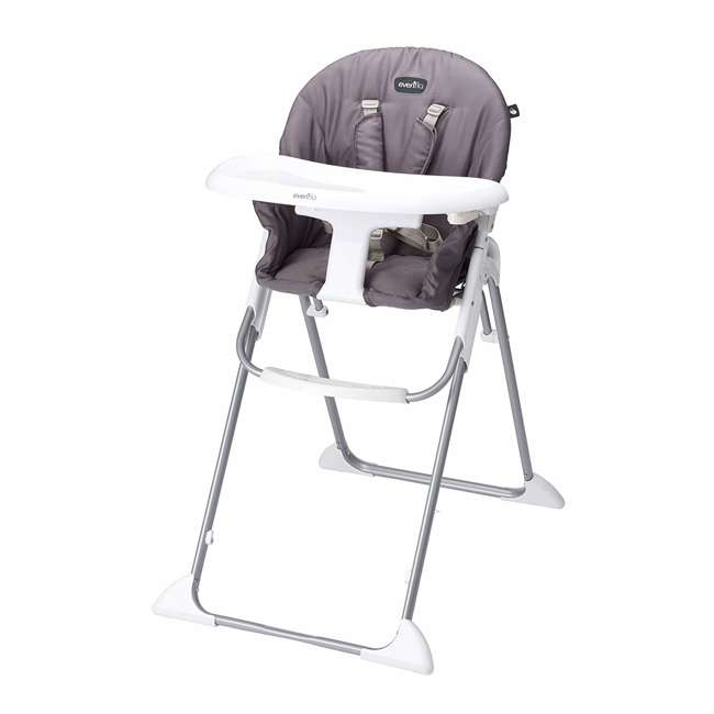 EVEN-25312029 Evenflo Clifton Foldable Baby Toddler High Chair, Smoke Gray