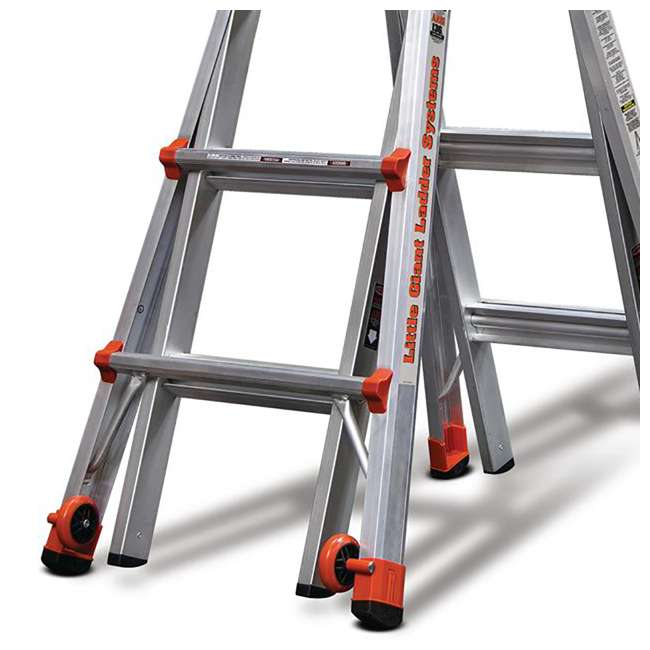 14317-001 + 15040-001 Little Giant Ladder Systems 17-Foot Aluminum Multi-Position Ladder & Tool Pouch 2