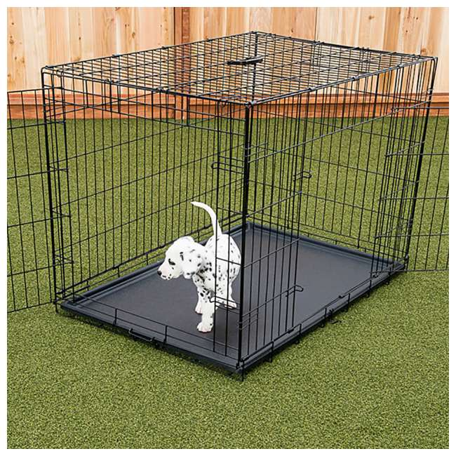 ZW 11542-U-A Lucky Dog 2 Door Dog Kennel w/ Leak Proof Removable Pan, Extra Large (Open Box) 1