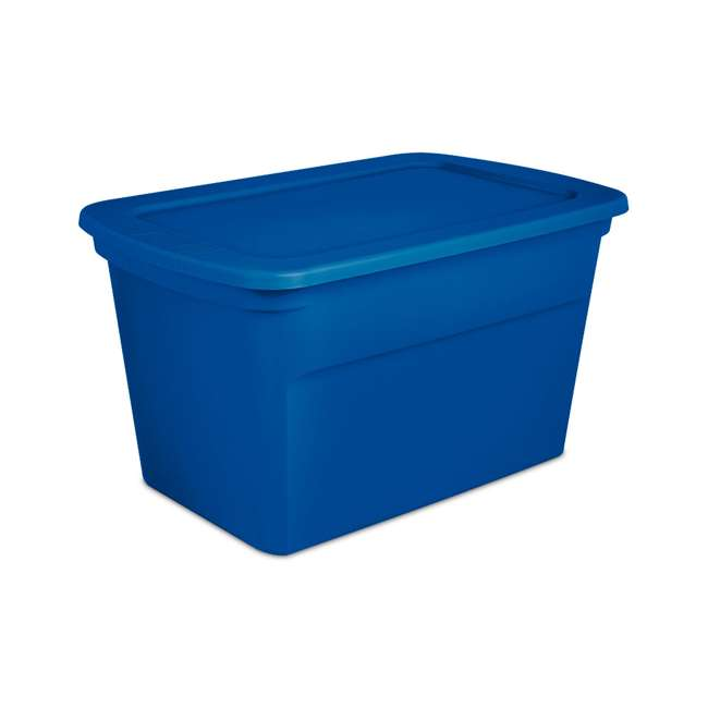 18 x 17361C06-U-A Sterilite 30 Gallon Heavy Duty Stackable Storage Tote, Blue (Open Box) (18 Pack)