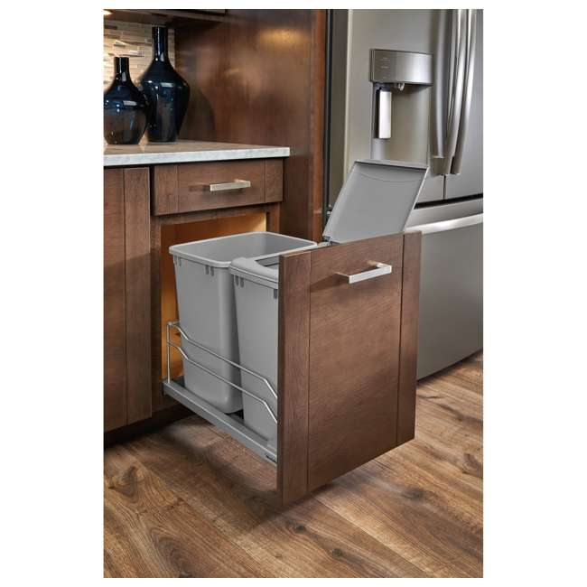 53WC-1835SCDM-217 Rev A Shelf 53WC-1835SCDM-217 Double 35 Quart Undermount Pullout Waste Container 3