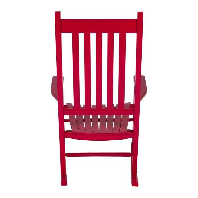 SHN-4332CP Shine Company Vermont Hardwood Outdoor Porch Patio Rocker Chair, Chili Pepper 1