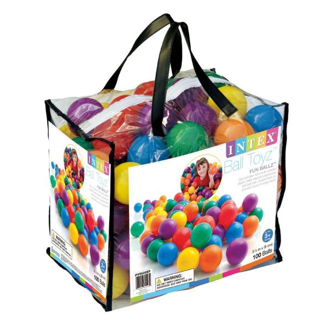48259EP + 49600EP Intex Inflatable Jump-O-Lene Ball Pit Castle Bouncer with 100 Play Balls 4