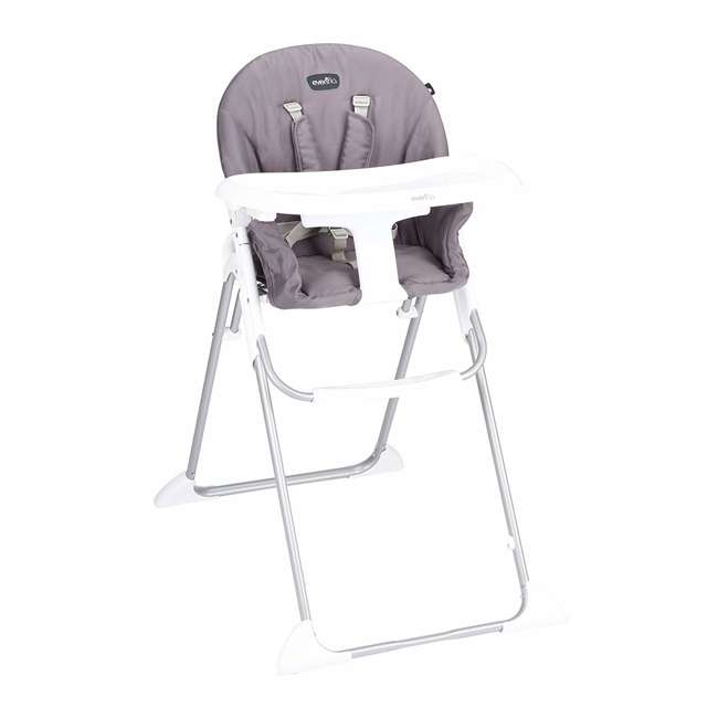 EVEN-25312029 Evenflo Clifton Foldable Baby Toddler High Chair, Smoke Gray 4