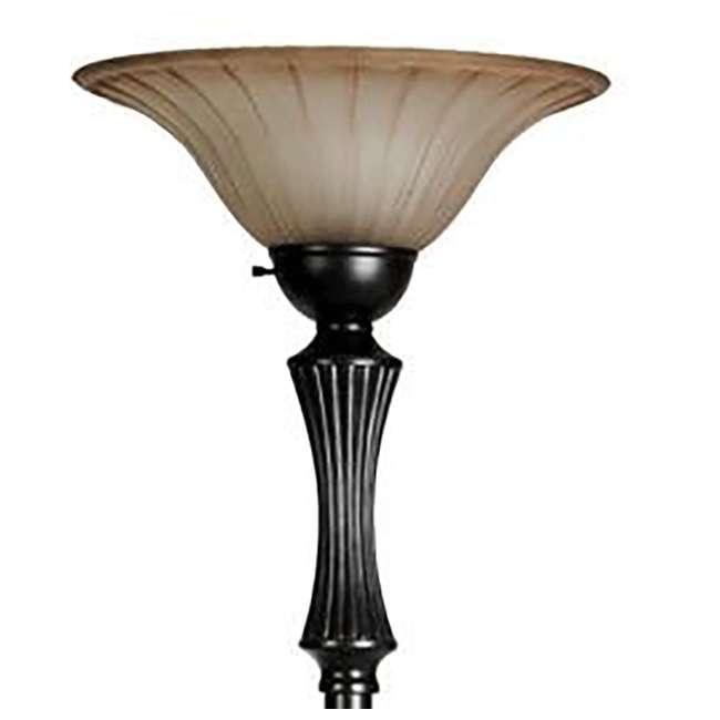 Stylecraft 72 bronze floor lamp with cream glass shade for Style craft floor lamp