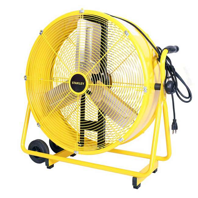 "ST-24DCT STANLEY ST-24DCT Direct Drive Cradle Drum Fan-Tiltable 24"" Yellow, Black"