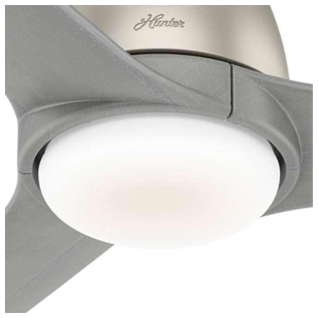59424 Hunter Fan Company Norden 54-Inch Multiple Speeds Ceiling Fan, Matte Nickel 4