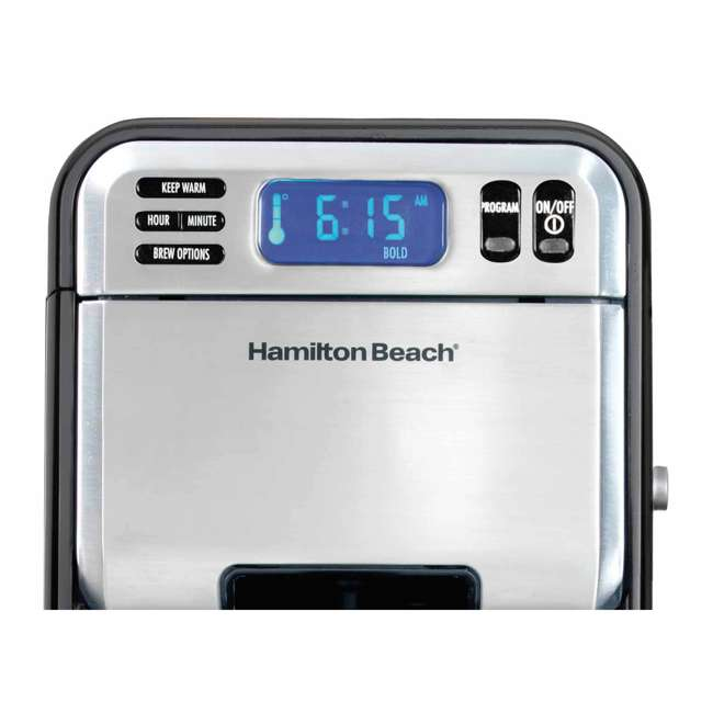 46205  Hamilton Beach 12 Cup Digital Automatic LCD Programmable Coffee Maker (2 Pack) 3
