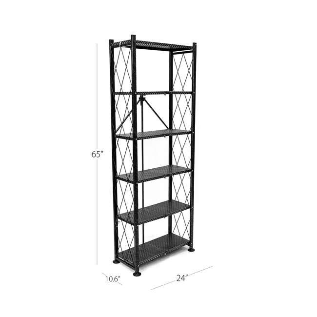 RB-03 Origami 6-Shelf Deco Rack Bookshelf, White 3