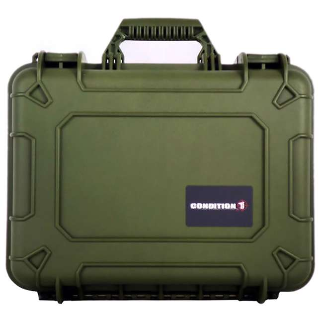 "H075GNF8542AC1-U-A Condition 1 14"" Hard Shell Weather Water Resistant Storage Case, Green(Open Box)"