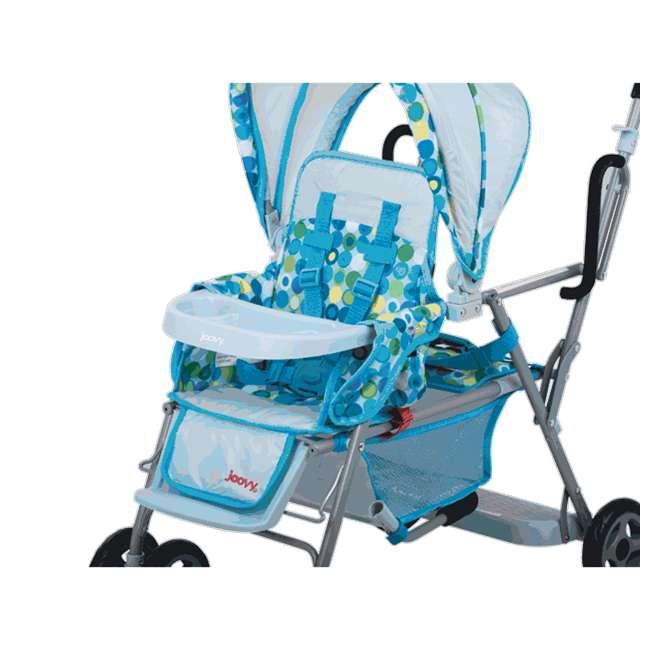JVY-043 + JVY-003 Joovy Toy Doll Caboose Pretend Play Stroller & Car Seat, Blue Dot 5