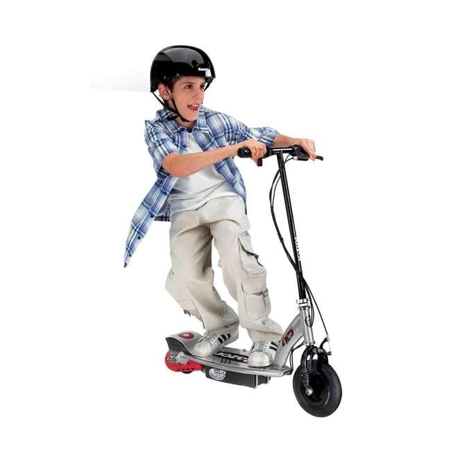 13125E-BK + 97778 + 96785 Razor E125 Motorized 24-Volt Scooter, Black + Youth Helmet + Elbow & Knee Pads 4