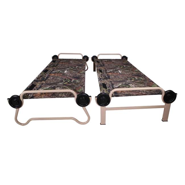 30701BO + 19847N Disc-O-Bed Mossy Oak Cam-O-Bunk Cot & Non-Slip Foot Pads (4-Pack) 7